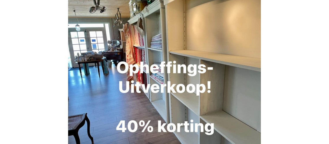 OPHEFFINGSUITVERKOOP 40% korting