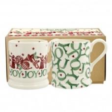 'Joy' 1/2pint mug set Emma Bridgewater