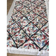 Patroon Baksteen scrap quilt