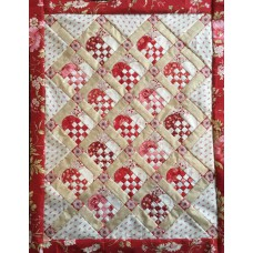 Pakket  Featherweight Kerstharten quiltje