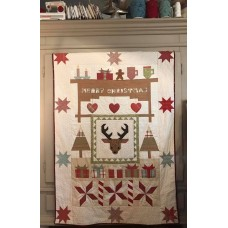 Patroon Merry Christmas Reindeer quilt