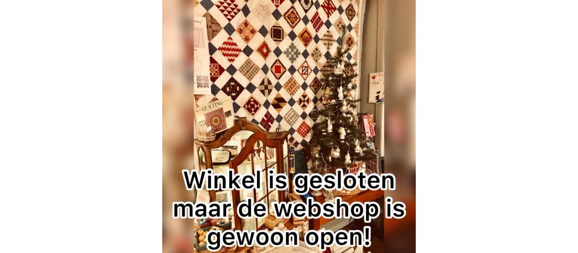 Webshop is open