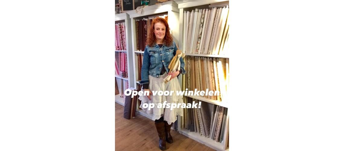 Open voor winkelen op afspraak!