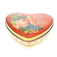 Blik hart ' with love'