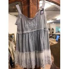 JDL clothing hemdje met kant grijs