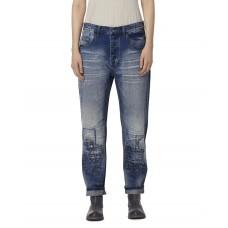 Ewa i Walla Jeans met boro effect en lapjeswerk