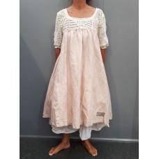 Les Ours Linnen jurk met gehaakte pasje Lolita