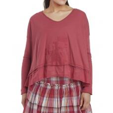 Ewa i Walla  blouse cerise tricot