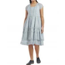 Ewa i Walla  organza jurk lichtblauw