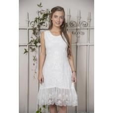 JDL clothing Wit kanten jurkje