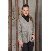 JDL clothing kanten blouse grijs