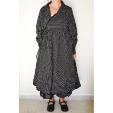Les Ours Zwarte overslag jurk met witte stippen