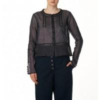 Ewa i Walla Organza blouse zwart