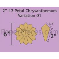 Petal Chrysanthemums 2 inch