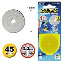 Olfa vervangend rolsnijmesje 45 mm
