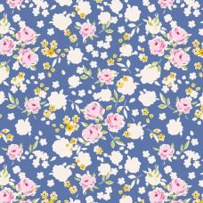 Tilda 'Apple Butter' Blauw bloemetje