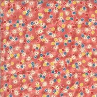 Moda, American Jane 'It's Elementary' rood bloemetjes