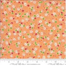 Moda, American Jane 'It's Elementary'  oranje bloemetjes