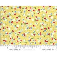 Moda, American Jane 'It's Elementary' geel bloemetjes