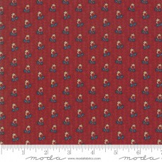 Betsy Chutchian ' Nancy's Needle' rood blauw/creme motiefje