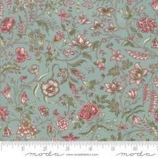 Moda, Regency Romance by Christopher Wilson Tate blauw bloemen
