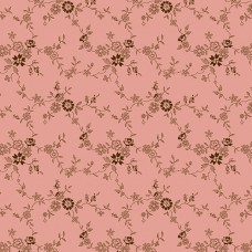 Max and Louise pattern co, Nana's Flower Garden, roze creme bloemetjes