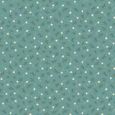 Max and Louise pattern co, Nana's Flower Garden, blauw takje en bloemetjes