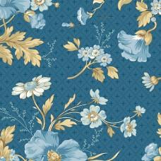 Edyta Sitar ' Perfect Union' Blauw bloemen