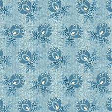 Edyta Sitar ' Perfect Union' Lichtblauw met blauwe bloemen met takjes
