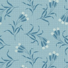 Edyta Sitar ' Perfect Union' lichtblauw bloemtakjes