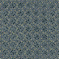 Blank Textiles, Barn Dance, blauw cirkels