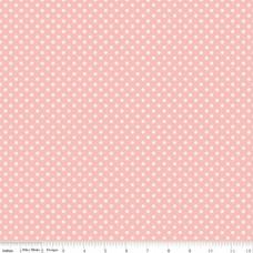 Riley Blake, Charmed, roze met witte stip