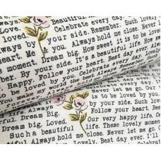 Riley Blake, Splendor, tekst roosjes
