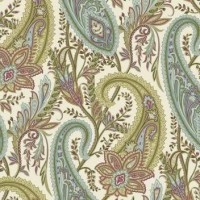 Free Spirit, Cashmere for Sanderson, multi paisley