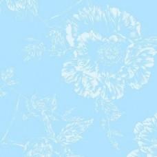 Benartex dubbelbrede achterkant stof skyblue