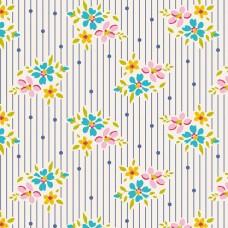 Tilda 'Apple Butter' Wit met blauw streepje en bloemetje