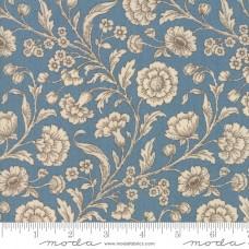 Moda, French General, Vive la France lichtblauw creme bloem