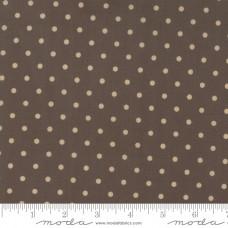 Bunny Hill Design ' 101 Maple Street' bruin met beige polka dot