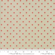 Bunny Hill Design ' 101 Maple Street' zand met rode polka dot