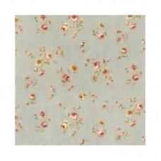 Lecien, Durham Quilt collection, grijsblauw kleine bloemen