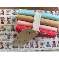 Fat quarter bundel ' Sun Bonnet Sue & Coordinates'