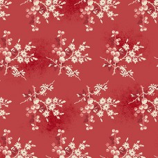 Edyta Sitar ' Little Sweethearts'  rood met roze creme bloemen
