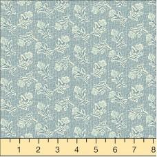 Andover, Edyta Sitar, Something Blue, witte bloem blauwe ondergrond