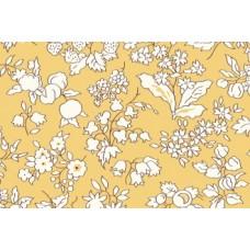Liberty of London ' Fruit Silhouette' geel wit bloem