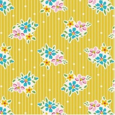 Tilda 'Apple Butter' Geel streepje en bloemetje