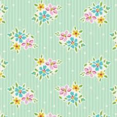 Tilda 'Apple Butter' Groen streepje en bloemetje