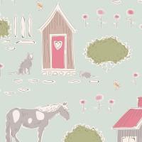 Tilda 'Tiny Farm' boerderijen en schuren blauw