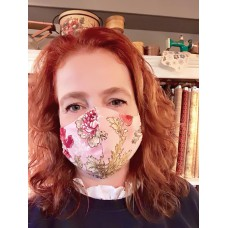 Pakket  Mondmasker zelf maken roze bloem