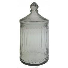 Glazen opbergfles met deksel
